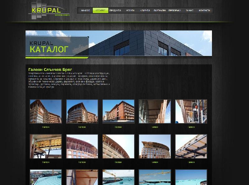 Уеб сайт и корпоративна идентичност на КРУПАЛ