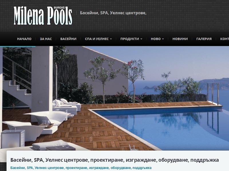 Изработка на онлайн каталог на фирма, занимаваща се с изграждането на басейни, SPS и Уелнес центрове